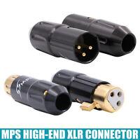 1PC XLR BALANCED CONNECTOR MPS High End 3pin XLR Jack Plug Snake Cable DIY HiFi