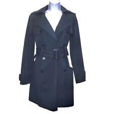 bebe S Navy Blue Short Trench Coat Belt Pockets