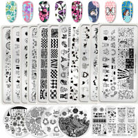 BORN PRETTY Nail Stamping Plates Spring Flower Image Printing Templates