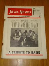 JAZZ NEWS 1962 MAR 28 UK MUSIC MAGAZINE COUNT BASIE