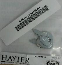 savers Pair Genuine Hayter 48 56 1330 KEY START spare IGNITION KEYS HY6426 1839