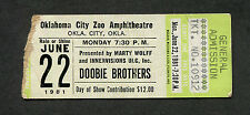 Original 1981 Doobie Brothers Concert Ticket Stub Oklahoma City One Step Closer