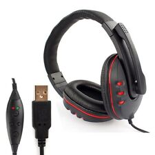 Wired USB Game Stereo Headset Headphones With Mic Noise Canceling For PS3