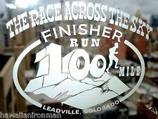 Leadville Colorado 100 mile Trail Run Finisher Decal The Race Across the Sky,