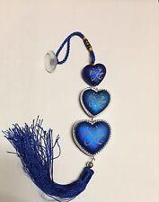 BLUE *HEART* ISLAMIC MUSLIM CAR HANGING ORNAMENT RELIGIOUS BEAUTIFUL GIFT