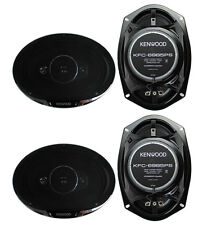 "4) New Kenwood KFC-6985PS 6x9"" 1200 Watt 4-Way Car Audio Coaxial Speakers Stereo"