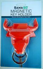 GamaGo ER1340 RED Bull Ring Magnetic Key Holder Keyring