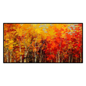 HH092 Large Canvas Hand-painted Scenery oil painting Forest Unframed 48""