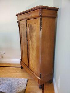 Antique French 2 Door Armoire Wardrobe Cabinet