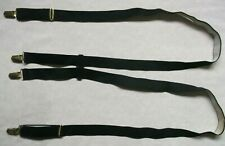 Braces Suspenders Mens Vintage CLIP ON 1970s 1980s BLACK Retro Skinhead