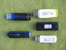 Lot of 5x used 8GB flash/thumb drives, fully formatted, PNY/SanDisk/Kingston