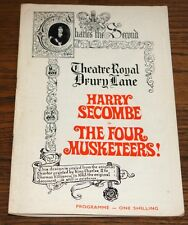 HARRY SECOMBE KENNETH CONNOR BILL OWEN JEREMY LLOYD SIGNED MUSKETEERS PROGRAMME