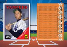 1988 Topps Style DEREK JETER Custom Artist Novelty MLB Baseball Card