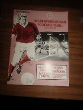 Hearts v Aberdeen programme Scottish Premier Division 1 October 1983