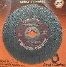 "Black & Decker 7"" Masonry Tile Cutting Abrasive Wheel Diamond Hole W 5/8 Adapter"