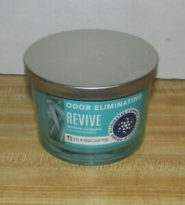 Purescents Odor Eliminating Revive Sparkling Eucalyptus Jar Candle 3 Wick 9 oz