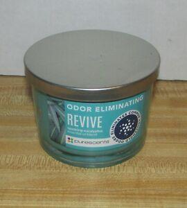 Purescents Odor Eliminating Revive Sparkling Eucalyptus Jar Candle 3 Wick 9 oz