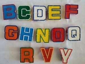 Vintage Lot Alpha Bots Letter Transformer Robots Alphabet Rare