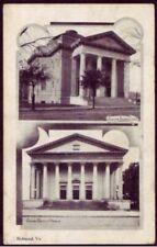 Judaica Jewish Postcard Richmond VA United States Synagogue & Baptist Church