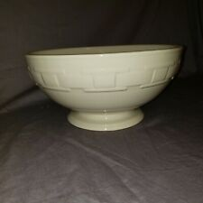 Longaberger pottery woven traditions ivory pedstal serving bowl Nwob