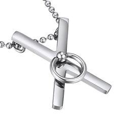 Croce Di Sant'Andrea Ciondolo Acciaio Inossidabile BDSM di O Gioielli Feticcio