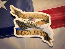 SWCC Clear Sticker, USN, Navy, Sailor, God, Country, Fast Boats, Military, USA
