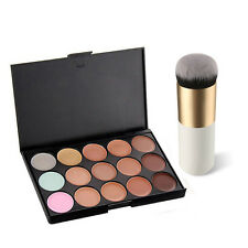 CHEAP ♫ Makeup ♫ Cosmetic Contour Face Cream Concealer Palette & Powder Brush UK