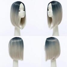 Short Wavy Bob Human Hair Full Lace Wig Glueless Lace Front Wigs Black Women