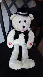 PBC International Groom  Bear Singing Plush Doll - Sings Going to the Chapel