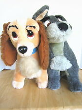 VINTAGE DISNEY LADY AND THE TRAMP DOG PLUSH STUFFED ANIMAL TOY DISNEYLAND LOT