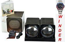 BOXY CARBON FIBRE LOOK Fancy Brick Dual Automatic Watch Winder:2FCF-2E2