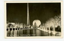 Constitution Mall NY World's Fair RPPC Antique Vintage Night Photo—NYC WF 1939
