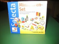 NIB  NEw Selecta Dollhouse Wooden Minatures Kitchen & miscellaneous items RARE!