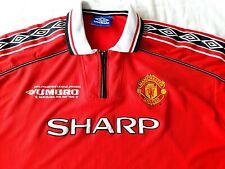 Manchester United Original 1998 Home Jersey Shirt XL Mens Red Umbro Man Utd