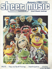 Sheet Music Magazine (Jan 1982) The Beatles~ The Muppets~Easy Piano/Guitar ~G526