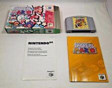 PAPER MARIO Nintendo 64 COMPLETE IN BOX!! Super Rare N64