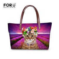 Women Ladies Designer Handbag Kitty Neoprene Shoulder Bag Large Hobo Tote Purse