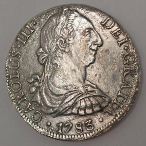 1783-FF Mexico 8 Reales - Carlos III - El Cazador Shipwreck