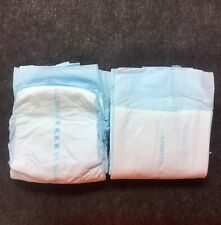 Vintage 2 Diaper Sample Dignity Classic Plastic Back Adult LG Pampers Brief D6