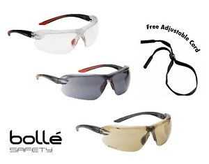 Bolle IRI-S Safety Glasses Available With Bifocal Dioptric Reading Area FREEcord