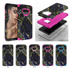 10pcs/lot Navy Marble Armor Tri-Layer Shockproof Hybrid Case For Samsung Note 9