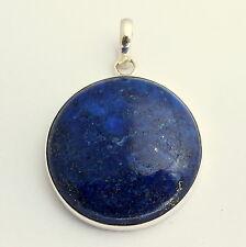 Lapis-Lazuli precious stone pendant in 925 SterlingSilber Jewelry Blue Natural