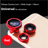 3in1 Clip On Fisheye Camera Lens + Wide Angle + Macro For Mobile Cell Phone US
