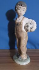 Nao By Lladro Wanna Play? Boy With Ball Porcelain Figurine