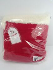 Pottery barn Kids Red Fleece Santa Bag Large W/ Tassel Drawstring #5007