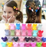 30Pcs Baby Kids Girls Cute Claw Flowers Candy Mini Hair Clips Headdress