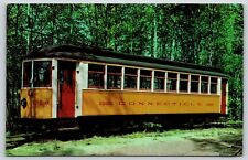 Side Sear Wooden Car 1326 Connecticut Electric Railway Trolley Museum Postcard