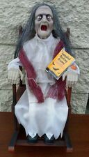 NEW ANIMATED ROCKING GRANNY LIGHTS AND SOUD SPOOKY HALLOWEEN PROP