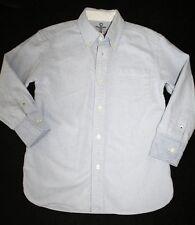 Crewcuts J Crew Boys Light Blue Rugged Oxford Shirt Size 4/5 Anchor 100% cotton