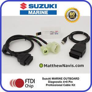 SUZUKI MARINE Outboard Professional Diagnostic CABLE KIT AND SOFTWARE SDS 8.50